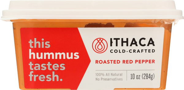 ITHACA COLD CRAFTED: Roasted Red Pepper Hummus, 10 oz