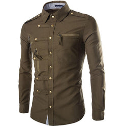 Zippers and Rivets Men's Shirt - Go Steampunk