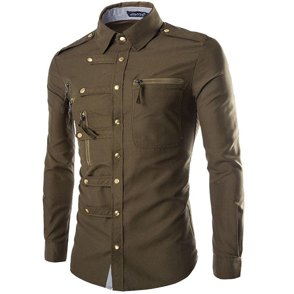Zippers and Rivets Men's Shirt