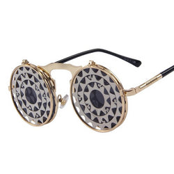 Steam Punk Vintage Clamshell Sunglasses