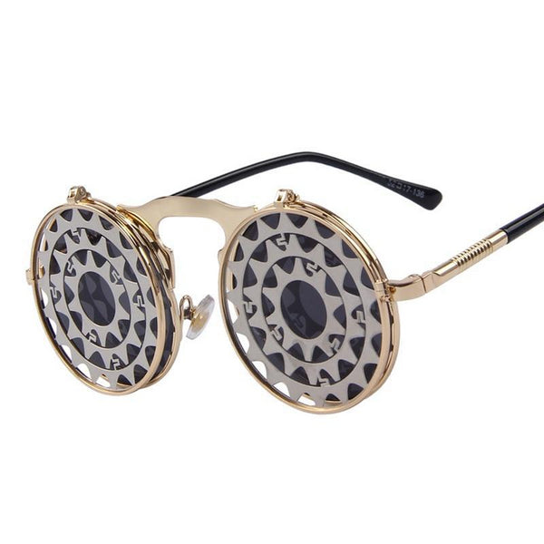 Steam Punk Vintage Clamshell Sunglasses - Go Steampunk