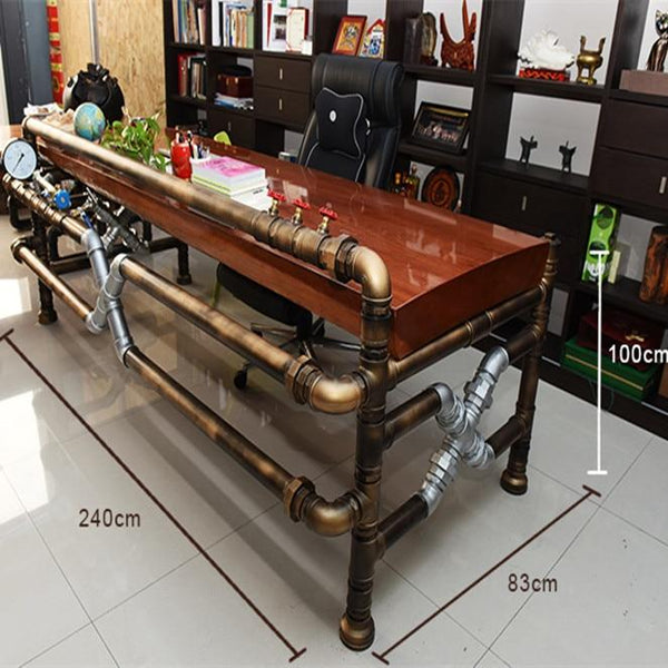 Steampunk Industrial Pipe Table
