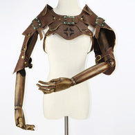 PU Leather Short Steampunk Shoulder Armor