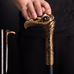 Raptor Head Sword Cane - Go Steampunk