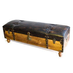 Trunk Strapped Storage Ottoman