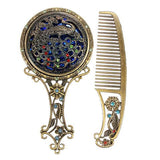 Vintage Hair Comb and Mirror Default Title - Go Steampunk