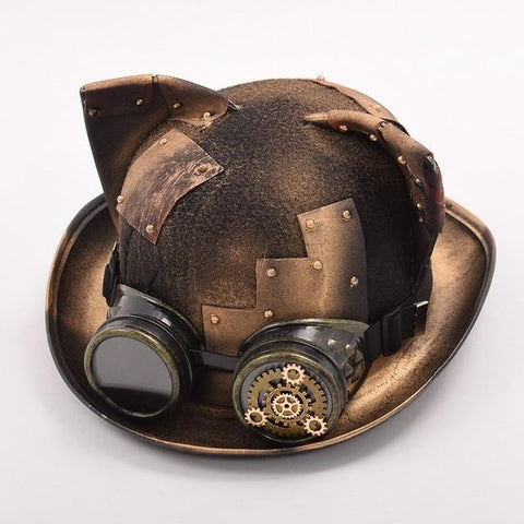 Cat Ear Steampunk Patch Hat