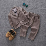 Baby Boys Formal Suit Brown / 3T - Go Steampunk