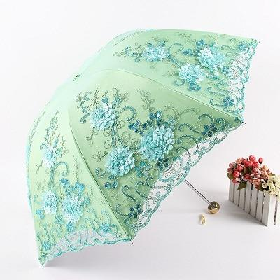 Elegant Embroidered Lace Umbrella