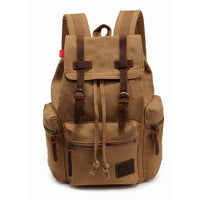 Vintage Canvas Backpack Khaki - Go Steampunk