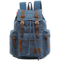 Vintage Canvas Backpack Blue - Go Steampunk