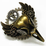 Steampunk Bird Skull Brooch