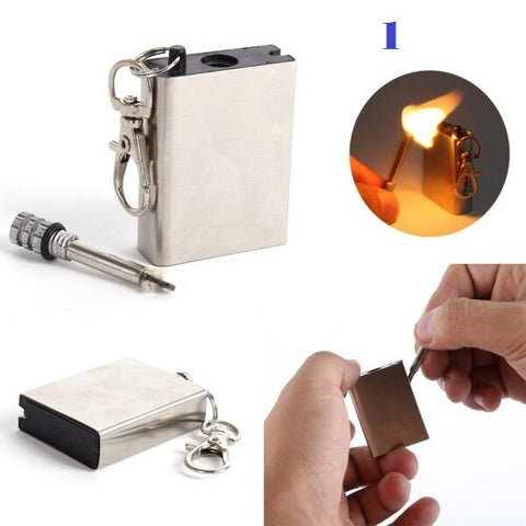 Mini Metal Match Fire Starter - Go Steampunk