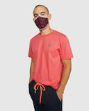 Psycho Bunny Pink Glo Unisex Face Mask 100% Cotton Adjustable Wire Nose one Size Fits All