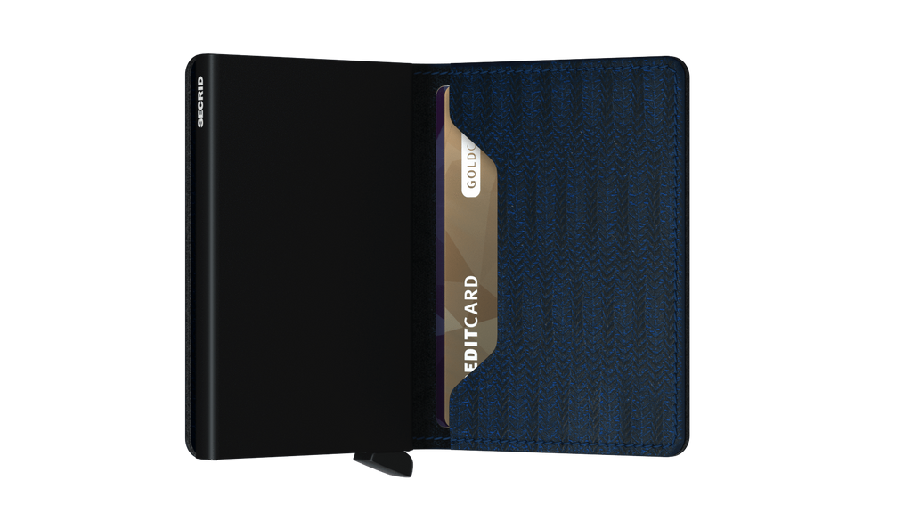 Secrid Slimwallet Dash Navy RFID Secure Authorized Dealer Slim Wallet Leather