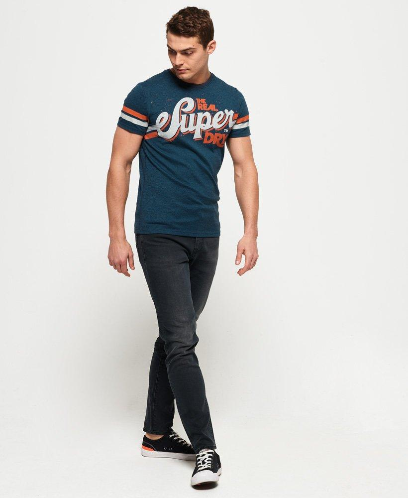 Superdry Men's Short Sleeve T-Shirt teal. Grit classic