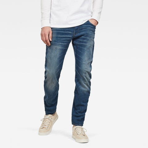 G-Star ARC 3D Relaxed Tapered S Men's Medium Vintage Aged Destroy Denim-Organic cotton