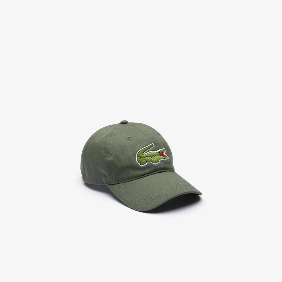 Lacoste Men's oversized croc baseball cap khaki/green adjustable one size fits all