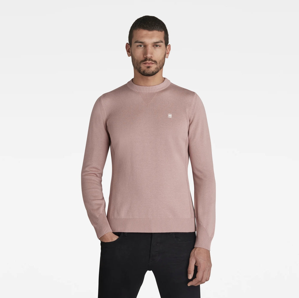 G-Star Raw Men's Classic Sport Knitted Sweater Lox Pink sustainable materials