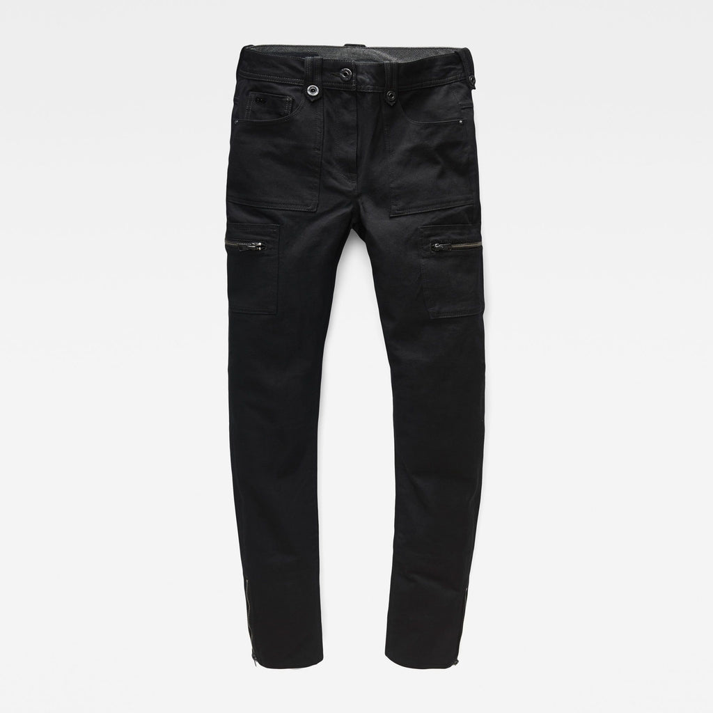 Women's Cargo pants black skinny