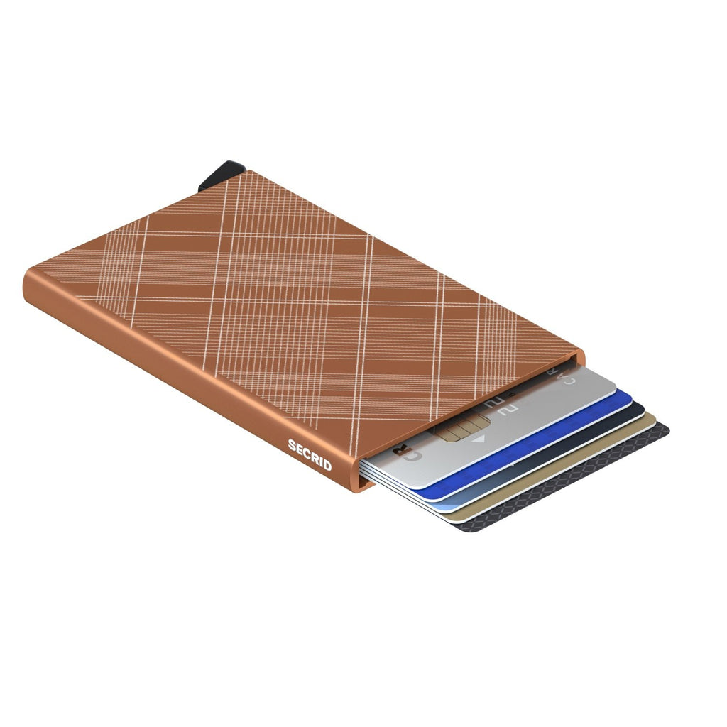 Secrid Card Protector RFID Secure Card Wallet  Laser Tartan Rust Authorized Dealer