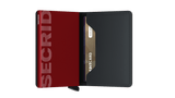 Secrid Slimwallet Matte Black/Red RFID Secure Authorized Dealer Leather