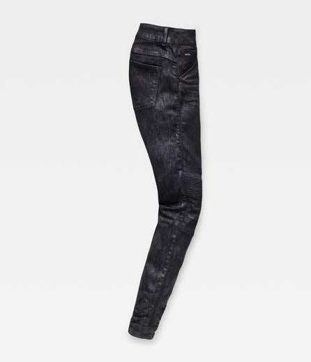 G-Star 5622 D-MOTION 3D Denim Mid Skinny Black Painted Woman's Jeans