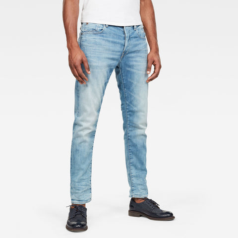 Diesel Men's D-Strukt 009NS Slim Light Blue Denim Jeans