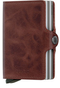 TwinWallet - Vintage Brown Twinwallet RFID Secure-Authorized Dealer Leather