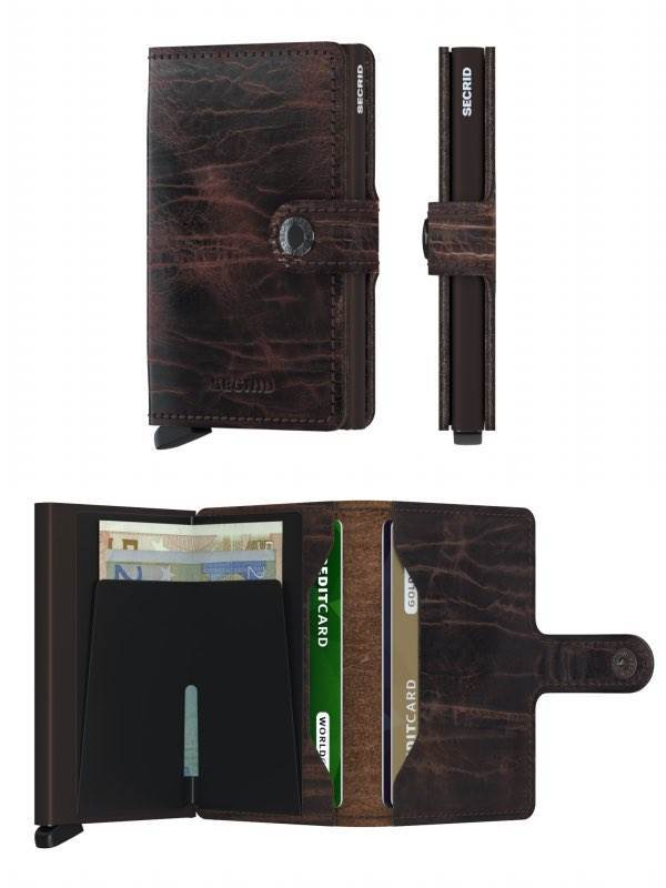 Secrid Miniwallet Dutch Martin Cacao-Brown Wallet RFID-Authorized Dealer-mini-Wallet Leather