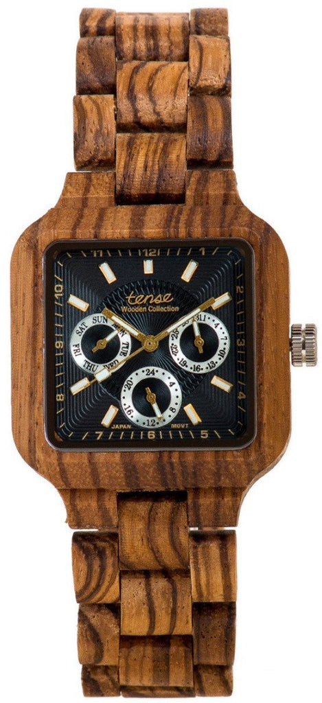 Tense a Men's Wooden Watch Summit - Zebrawood