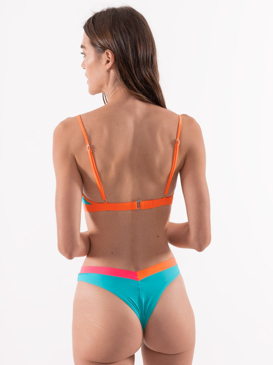 ariel top neon orange - ONEONESWIMWEAR