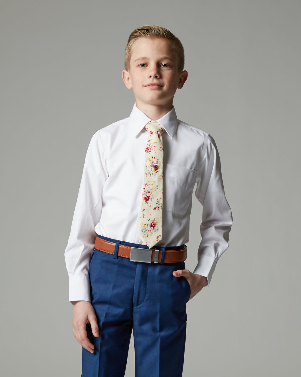 Boys Athletic Fit Non-Iron Dress Shirt