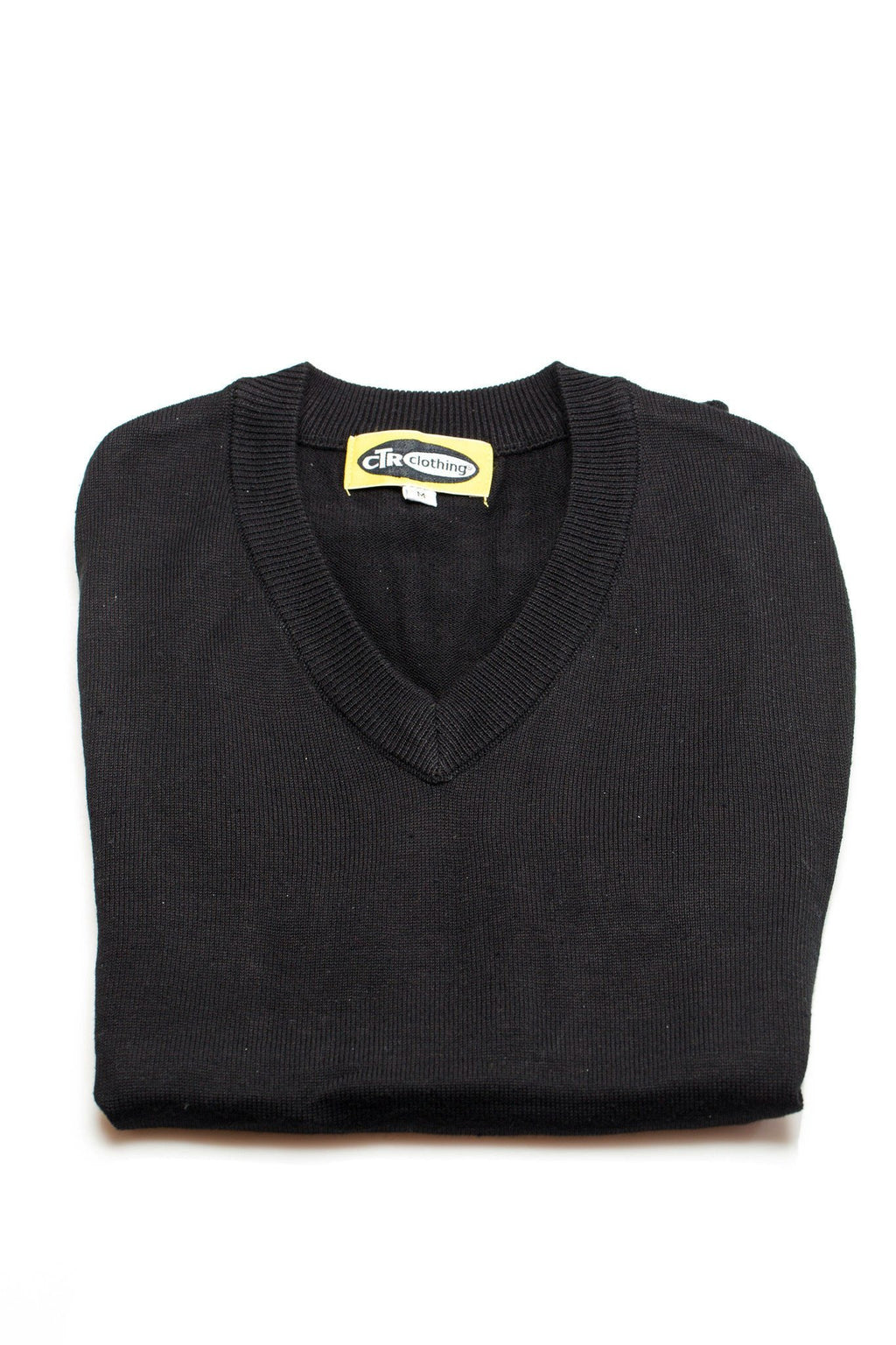 V-Neck Missionary Sweater Vest Black by CTR Clothing - The Kater Shop - 2
