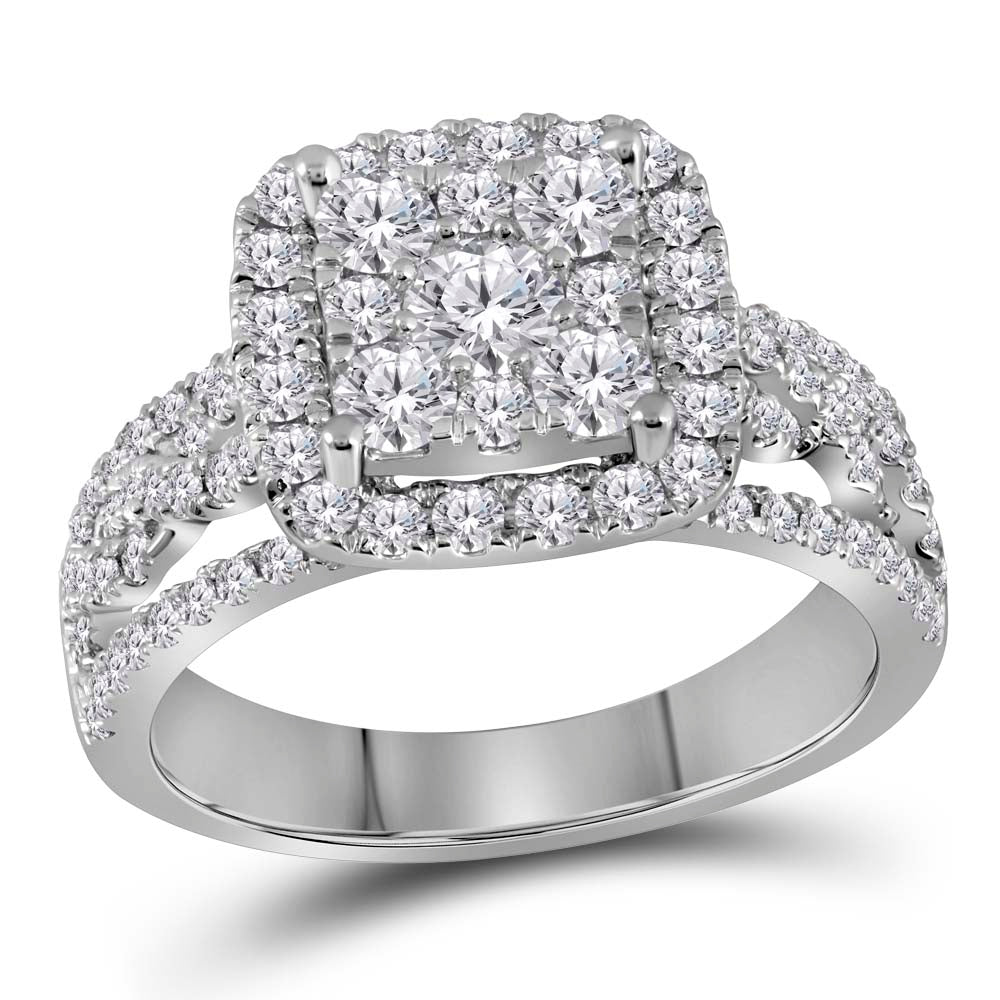 1.5 CARAT DIAMOND HALO RING