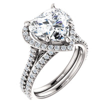 Platinum 1.12CTW Halo Style Engagement Ring