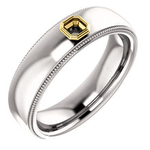 Unisex Diamond Wedding Band