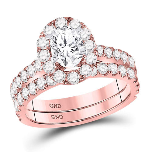 1 7/8 CARAT ENGAGEMENT AND WEDDING BAND SET