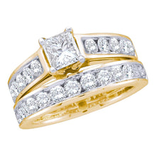 Load image into Gallery viewer, 1CTW Princess Cut Diamond Ring and Band Set  18505Y