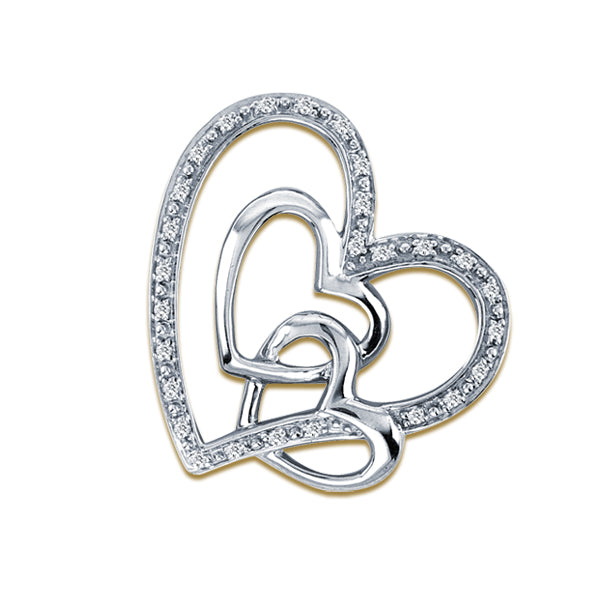 Tripple Heart Diamond Pendant