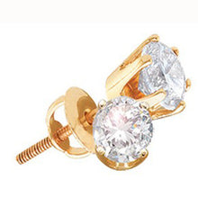 "Load image into Gallery viewer, Diamond Solitaire Stud Earrings ""Everyday Collection"""