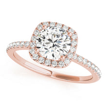 Load image into Gallery viewer, Cushion Halo Style Diamond Engagement Ring