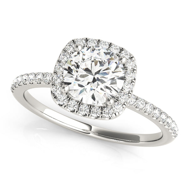 Cushion Halo Style Diamond Engagement Ring