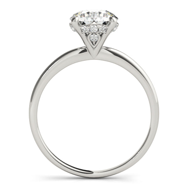 Solitaire with Hidden Halo of Diamonds Platinum