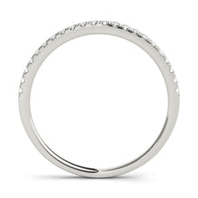 Load image into Gallery viewer, Split Claw Diamond Wedding Band Platinum