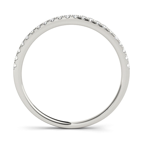 Split Claw Diamond Wedding Band 18Kt