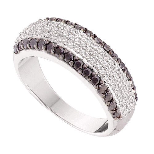 1 CARAT BLACK AND WHITE DIAMOND BAND