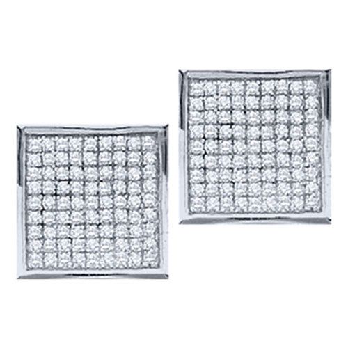 Micro Pave Diamond Earrings