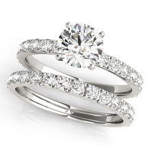 Load image into Gallery viewer, Single Row Split Claw Classic Diamond Engagement Ring