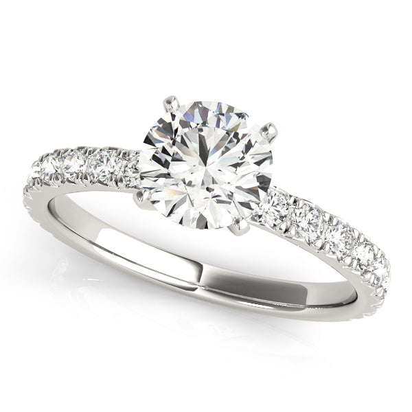 Single Row Split Claw Classic Diamond Engagement Ring